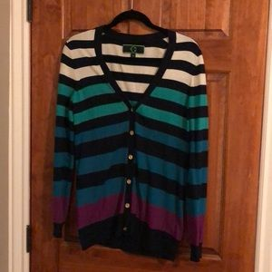 C. Wonder colorful striped cardigan.
